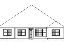 House Plan Design - Country Exterior - Rear Elevation Plan #513-2167