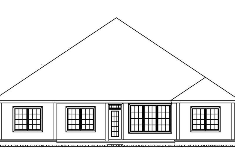 Country Exterior - Rear Elevation Plan #513-2167 - Houseplans.com