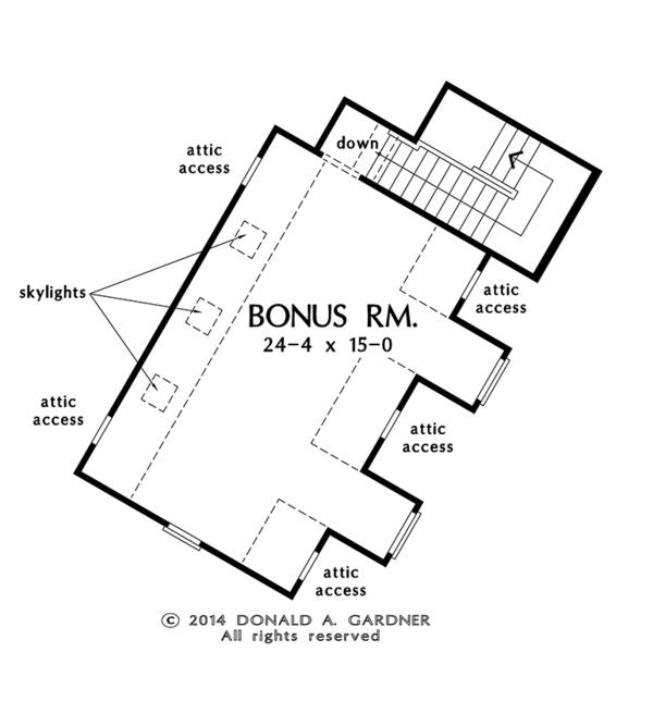 House Plan Design - Traditional Floor Plan - Other Floor Plan #929-980