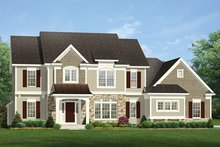 Colonial Exterior - Front Elevation Plan #1010-170