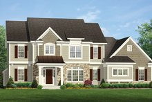 Home Plan - Colonial Exterior - Front Elevation Plan #1010-170
