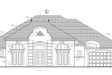 European Exterior - Front Elevation Plan #1058-52