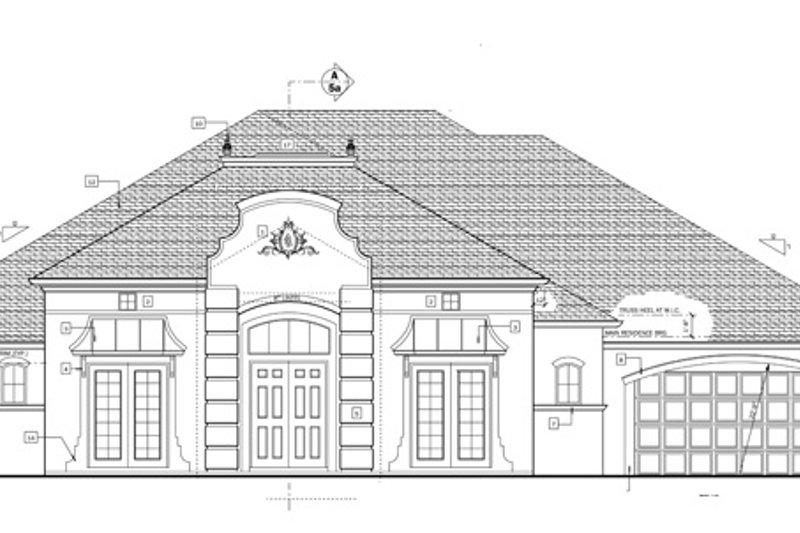 European Exterior - Front Elevation Plan #1058-52 - Houseplans.com