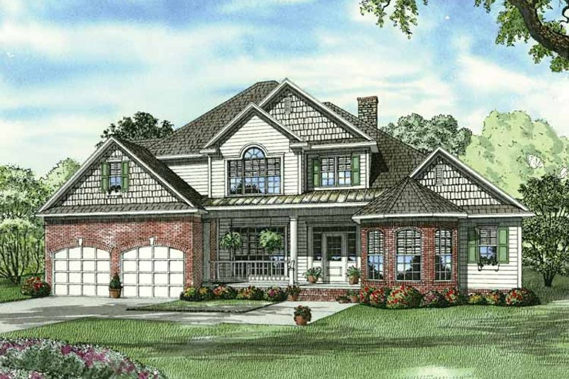 Dream House Plan - Traditional Exterior - Front Elevation Plan #17-2802