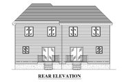 Traditional Style House Plan - 6 Beds 1.5 Baths 2724 Sq/Ft Plan #138-350 Exterior - Rear Elevation