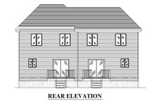 Dream House Plan - Traditional Exterior - Rear Elevation Plan #138-350