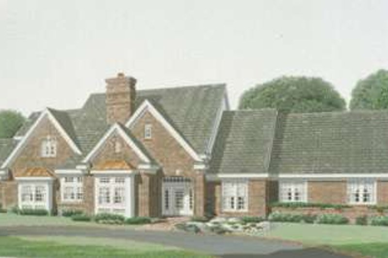 European Exterior - Front Elevation Plan #410-401
