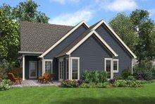 Craftsman Exterior - Rear Elevation Plan #48-994