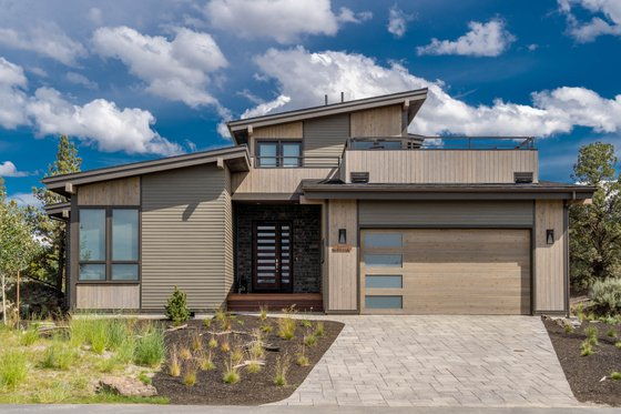 Modern Exterior - Front Elevation Plan #895-113