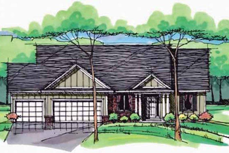 Dream House Plan - European Exterior - Front Elevation Plan #51-974