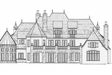 European Exterior - Rear Elevation Plan #453-608