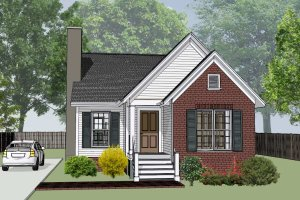 Cottage Exterior - Front Elevation Plan #79-137