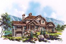 Dream House Plan - Craftsman Exterior - Front Elevation Plan #5-466