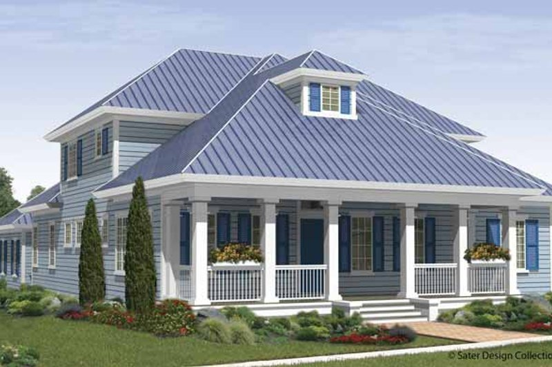 Country Exterior - Front Elevation Plan #930-410