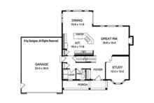 Traditional Floor Plan - Main Floor Plan Plan #1010-125