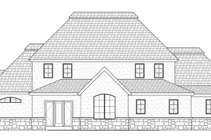Prairie Exterior - Rear Elevation Plan #937-31 - Houseplans.com