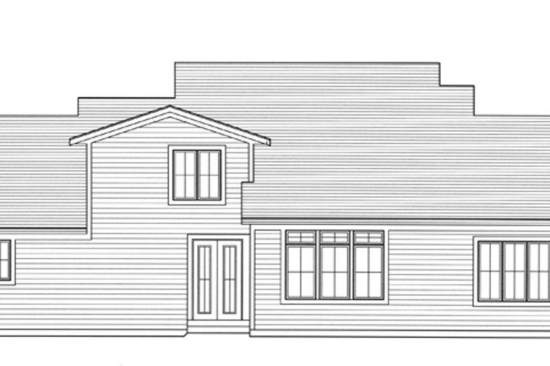 Craftsman Exterior - Rear Elevation Plan #46-830 - Houseplans.com