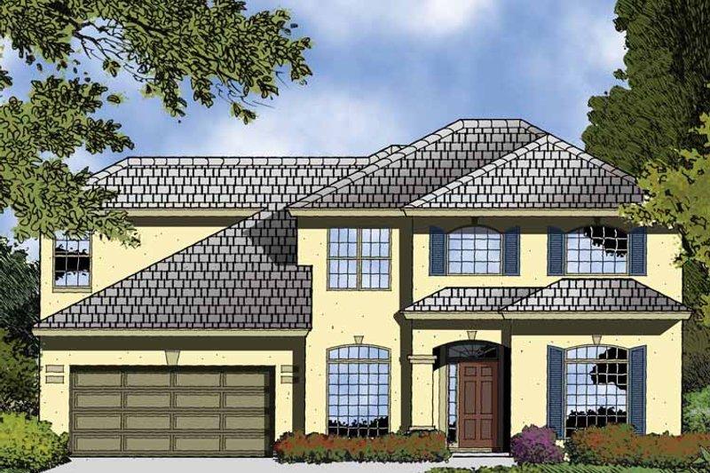 Contemporary Exterior - Front Elevation Plan #1015-50 - Houseplans.com