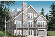 Home Plan - European Exterior - Front Elevation Plan #23-2423