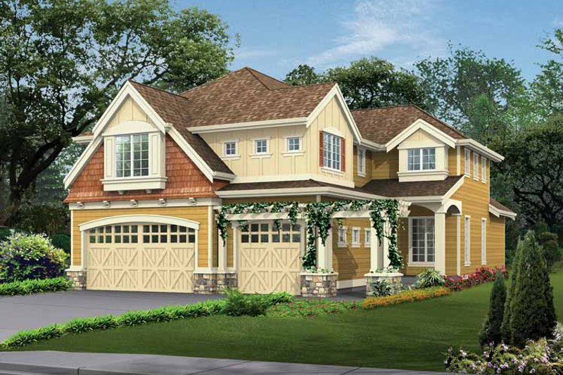 Dream House Plan - Craftsman Exterior - Front Elevation Plan #132-260