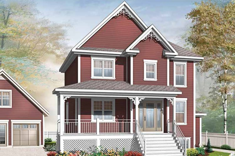 Country Exterior - Front Elevation Plan #23-2503 - Houseplans.com