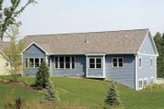 Craftsman Style House Plan - 2 Beds 2.5 Baths 1592 Sq/Ft Plan #928-164 Exterior - Rear Elevation