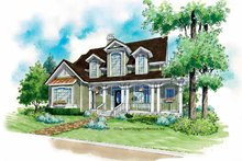 Victorian Exterior - Front Elevation Plan #930-181