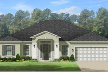 Home Plan - Adobe / Southwestern Exterior - Front Elevation Plan #1058-134