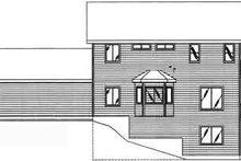 House Plan Design - Modern Exterior - Rear Elevation Plan #117-284