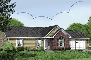 Home Plan - Traditional Exterior - Front Elevation Plan #11-101
