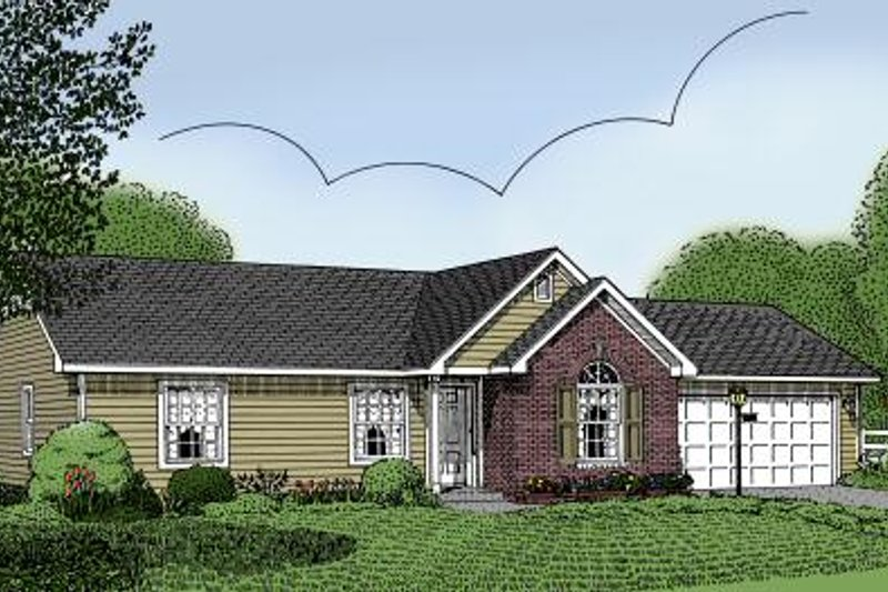 Architectural House Design - Traditional Exterior - Front Elevation Plan #11-101
