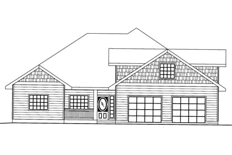 Ranch Exterior - Front Elevation Plan #117-854 - Houseplans.com