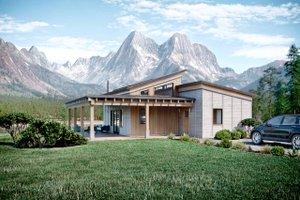 Cabin Exterior - Front Elevation Plan #924-14