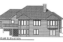 Dream House Plan - Traditional Exterior - Rear Elevation Plan #70-270