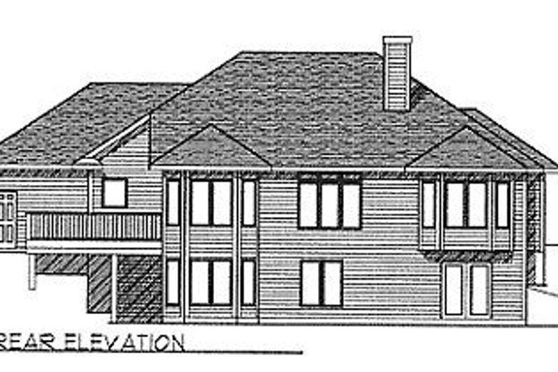 Traditional Exterior - Rear Elevation Plan #70-270 - Houseplans.com