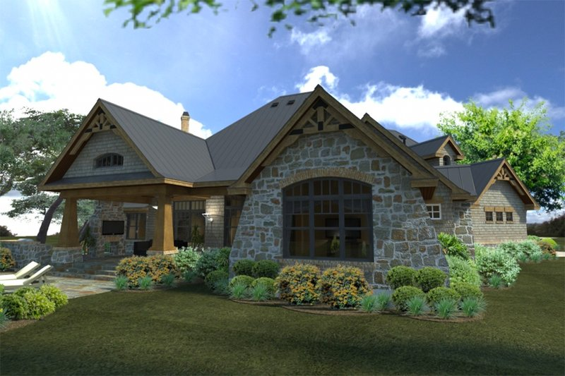 Craftsman Exterior - Rear Elevation Plan #120-172 - Houseplans.com