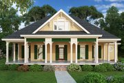 Cottage Style House Plan - 3 Beds 2 Baths 1620 Sq/Ft Plan #45-583 Exterior - Front Elevation