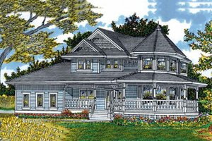 Victorian Exterior - Front Elevation Plan #47-427