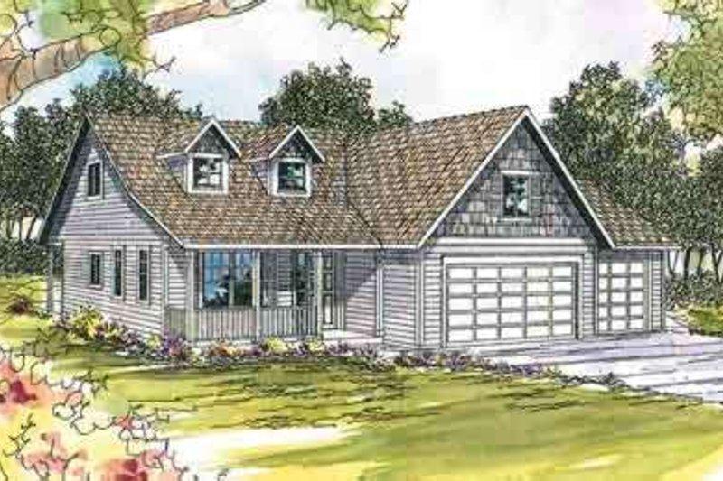Dream House Plan - Farmhouse Exterior - Front Elevation Plan #124-441