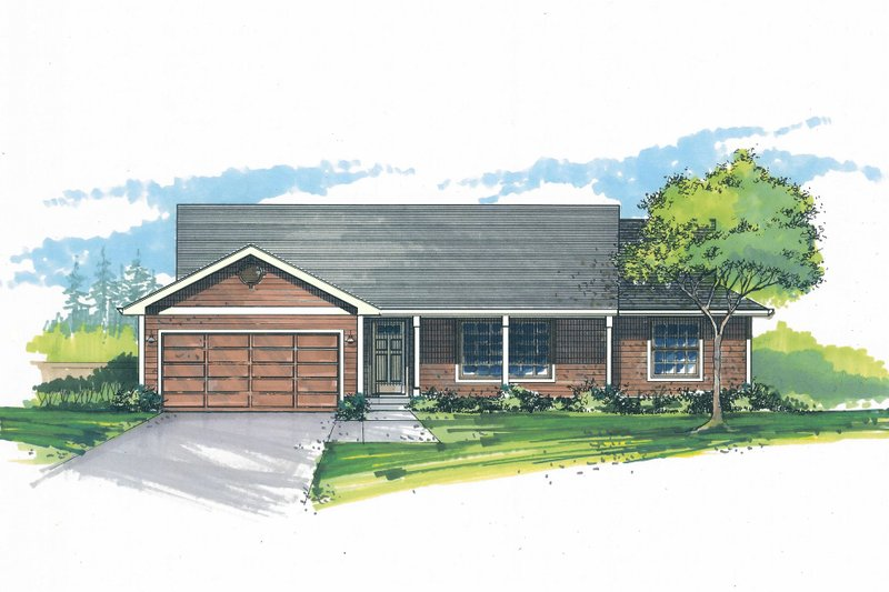 Architectural House Design - Craftsman Exterior - Front Elevation Plan #53-598