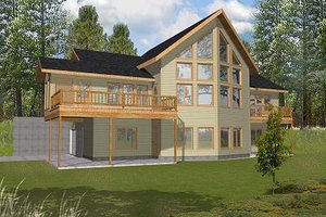 Contemporary Exterior - Front Elevation Plan #117-521