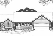 Dream House Plan - Traditional Exterior - Front Elevation Plan #58-145