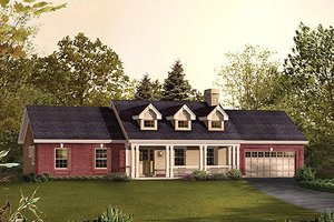 Traditional Exterior - Front Elevation Plan #57-393