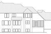 European Style House Plan - 4 Beds 2.5 Baths 3150 Sq/Ft Plan #51-461 Exterior - Rear Elevation