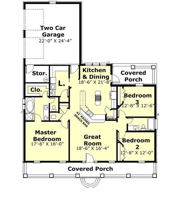 Country Floor Plan - Main Floor Plan #44-176