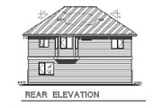 Traditional Style House Plan - 2 Beds 2 Baths 877 Sq/Ft Plan #18-319 Exterior - Rear Elevation