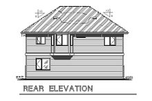 Home Plan Design - Traditional Exterior - Rear Elevation Plan #18-319