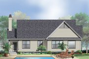 Country Style House Plan - 3 Beds 2 Baths 1428 Sq/Ft Plan #929-398 Exterior - Rear Elevation