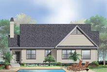 Home Plan - Country Exterior - Rear Elevation Plan #929-398