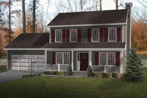 Home Plan - Farmhouse Exterior - Front Elevation Plan #22-202